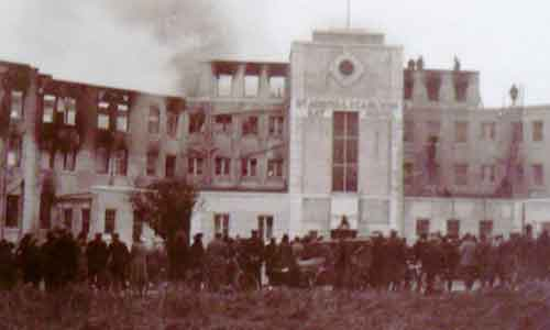 Fire at St Austell Bay Hotel 1920s?